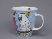 NEVIS Tropical Birds Cockatoos- porcelana
