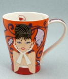SOLWAY Glamour Girls Orange - porcelana