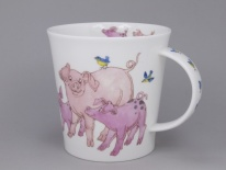 CAIRNGORM Tickled Pink Pig -porcelana